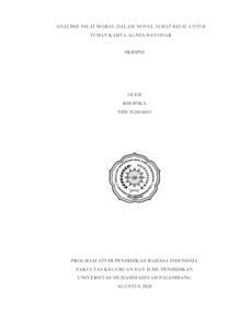Analisis Nilai Moral Dalam Novel Surat Kecil Untuk Tuhan Karya Agnes Davonar