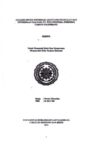 Analisis Sistem Informasi Akuntansi Penjualan Dan Penerimaan Kas Pada Pt Pos Indonesia Persero Cabang Palembang